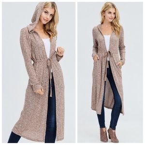 Sweaters - 🎉HP✨SALE!!✨NEW! CHIC TAN SOFT HOODED SWEATER TOP